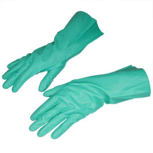 luva de látex nitrílico verde tamanho m - nitrili ka 10
