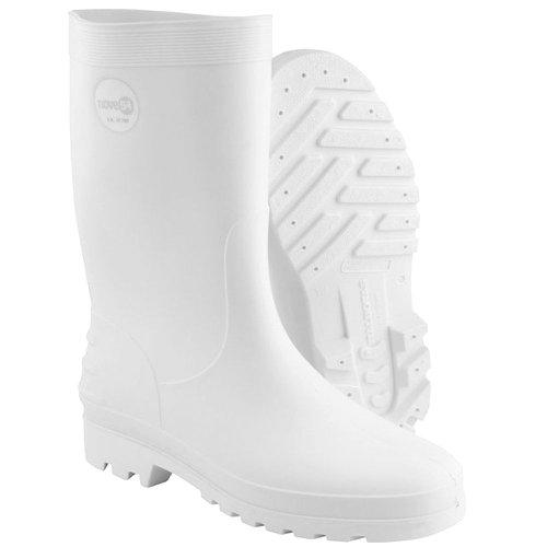 bota de pvc branca sem forro cano médio n°43/44