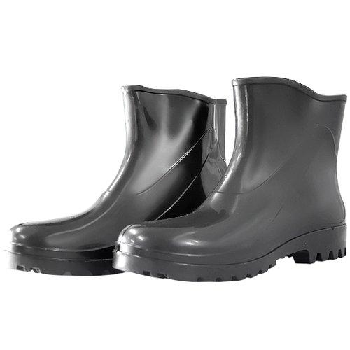 bota impermeável de pvc acqua flex com cano extra curto preto n° 35