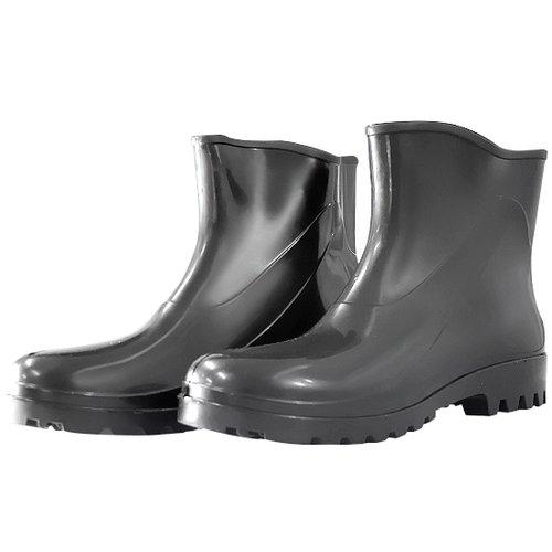 bota impermeável de pvc acqua flex com cano extra curto preto n° 37