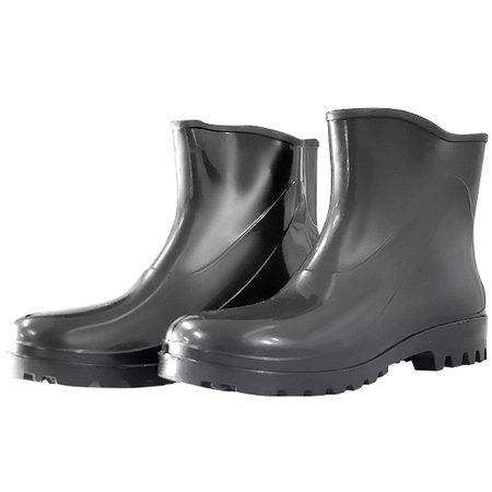 bota impermeável de pvc acqua flex com cano extra curto preto n° 38