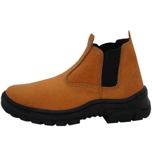 botina de segurança elástico agro boot marrom - número 38