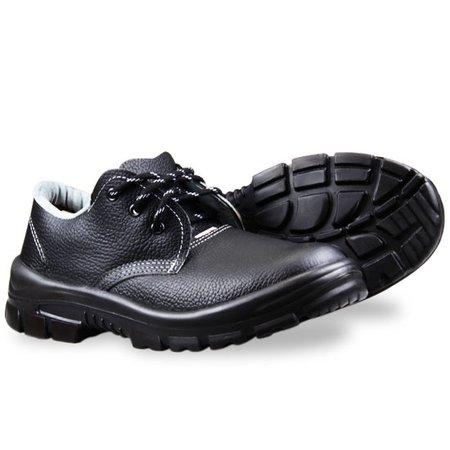 sapato de amarrar premium preto com bico em pvc n° 44
