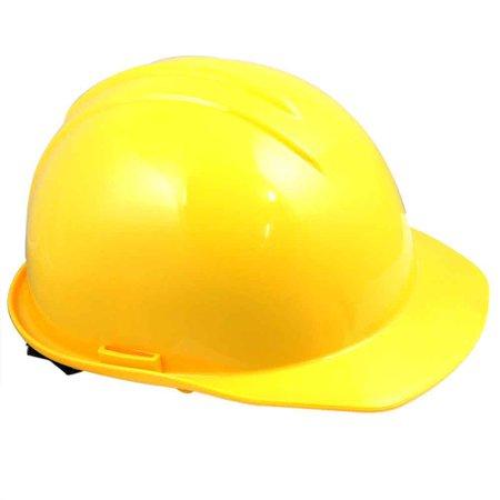 capacete de segurança amarelo com carneira - evolution