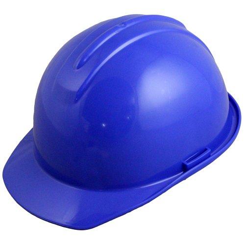 capacete de segurança azul com carneira - evolution