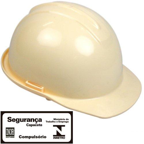 capacete de segurança evolution bege com carneira