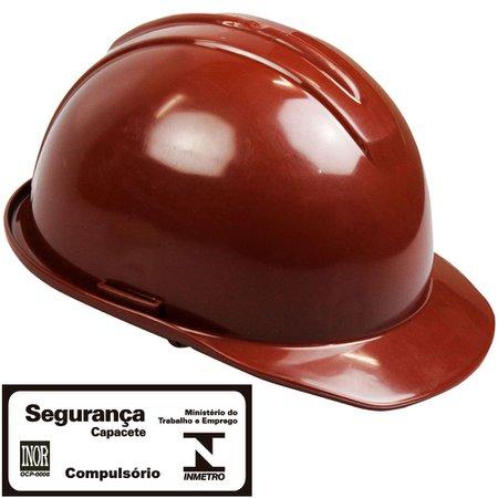 capacete de segurança evolution marrom com carneira