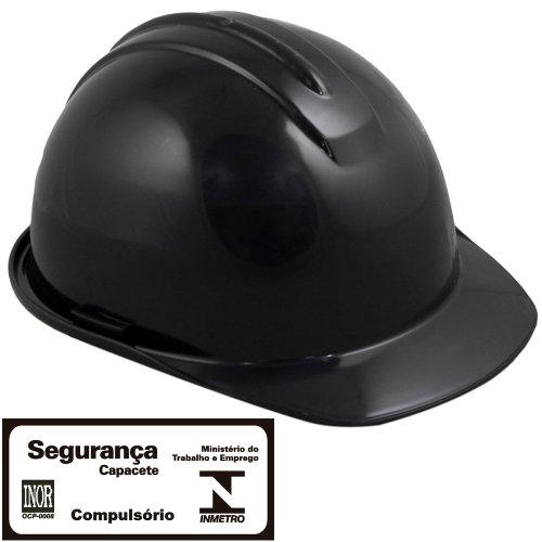 capacete de segurança evolution preto com carneira