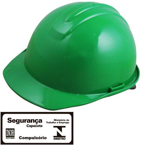 capacete de segurança evolution verde com carneira