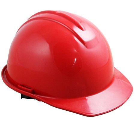 capacete de segurança vermelho com carneira - evolution