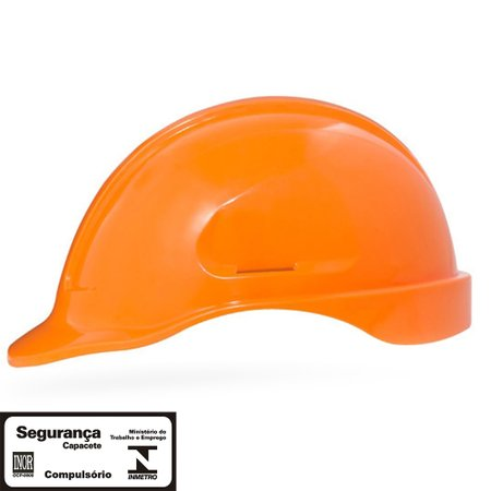 capacete de segurança laranja turtle sem suporte