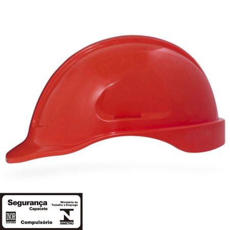 capacete de segurança vermelho turtle sem suporte