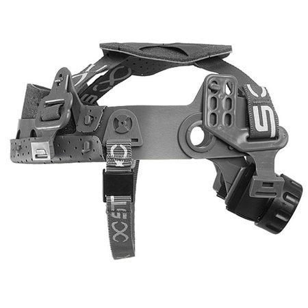 suspensão tipo catraca steel-lock com jugular para capacetes de segurança