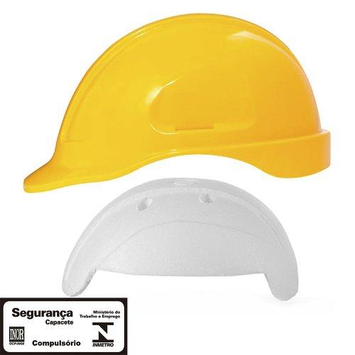 capacete de segurança amarelo turtle com absorvedor de impacto
