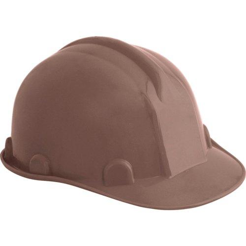 capacete de segurança marrom com carneira