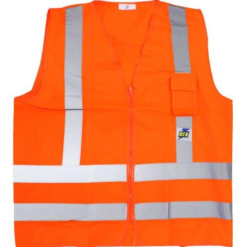 colete refletor poliéster laranja fluorescente com 1 bolso tamanho xxg