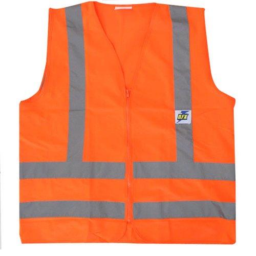 colete refletor laranja fluorescente tamanho xxg