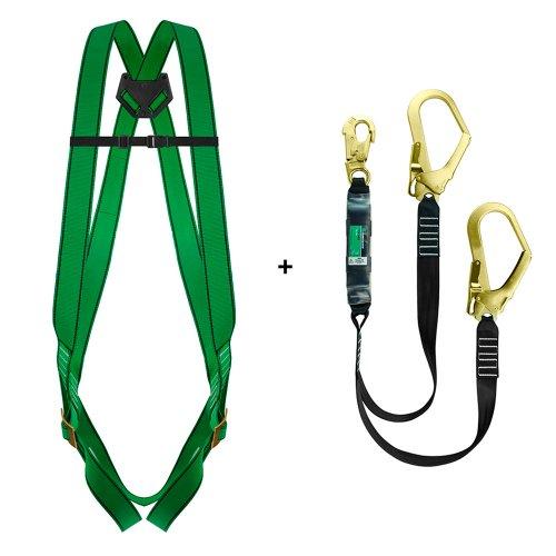 conjunto de cinturão com talabarte em y com absorvedor