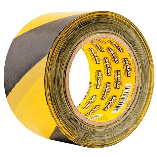 fita zebrada para demarcação 70mm x 200m sem adesivo