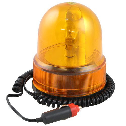 luz de emergência giroflex amarela 12v