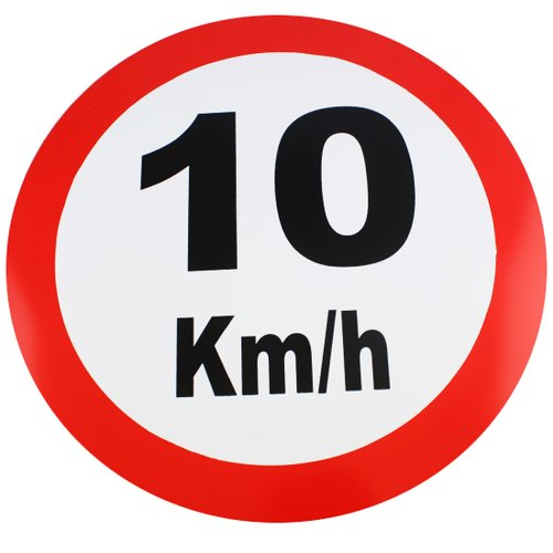placa sinalizadora de 10km - 40cm com 1,5mm de espessura