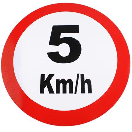placa sinalizadora de 5km - 40cm com 1,5mm de espessura