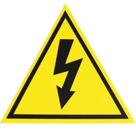 placa sinalizadora de alta tensão triangular