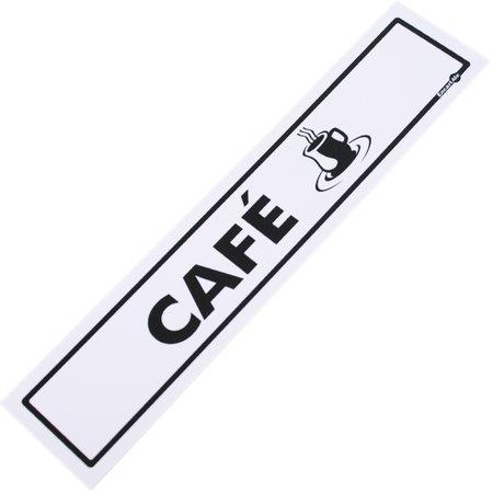 placa sinalizadora para café