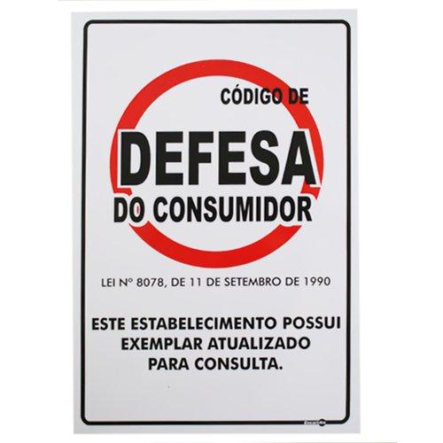 placa sinalização código defesa consumidor