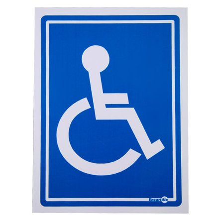 placa sinalizadora cadeirante