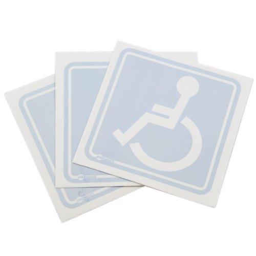 adesivo de sinalização de vidro para cadeirante com 3 peças