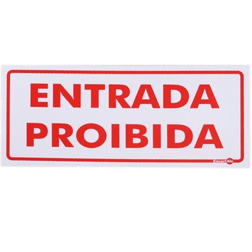 placa sinalizadora entrada proibida