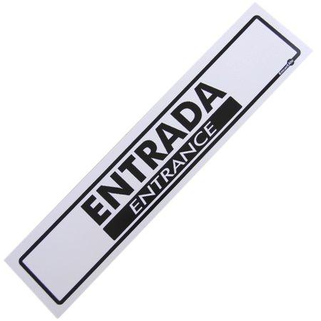 placa sinalizadora de entrada bilíngue
