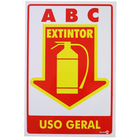 placa sinalizadora para extintor uso geral