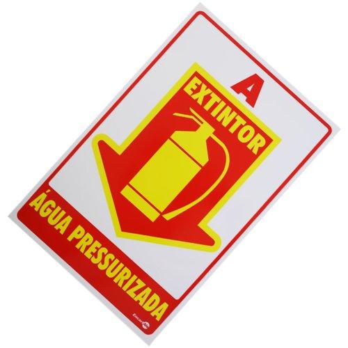 placa sinalizadora extintor água pressurizada