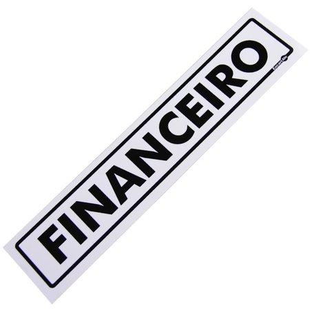 placa sinalizadora de financeiro