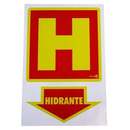 placa sinalizadora hidrante