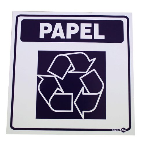 adesivo de parede sinalizador lixo papel