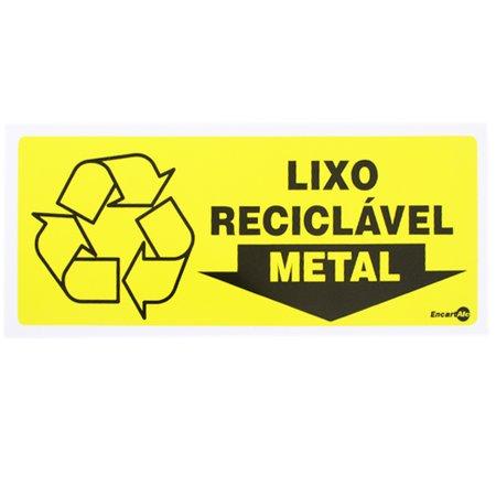placa sinalizadora para lixo reciclável para metal