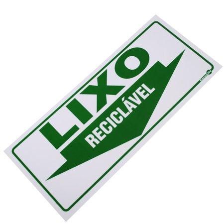 placa sinalizadora lixo reciclável