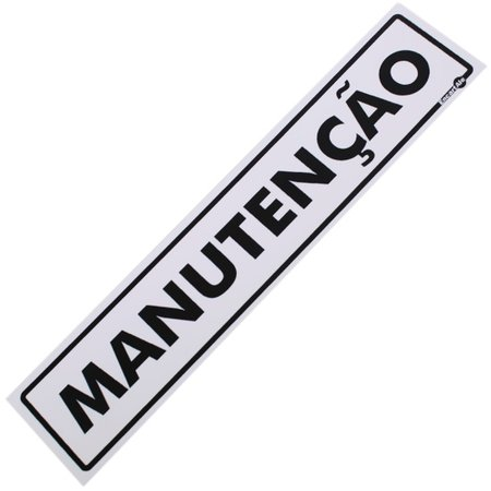 placa sinalizadora de manutenção