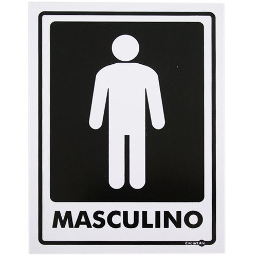 placa sinalizadora masculino