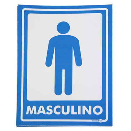 adesivo de parede sinalizor masculino com 2 unidades