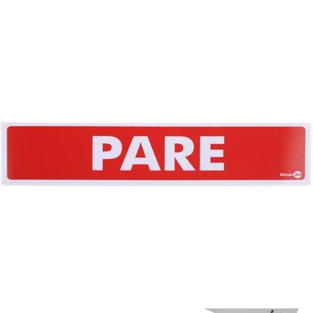 placa sinalizadora de pare