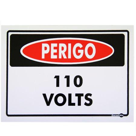 placa sinalizadora perigo 110 volts