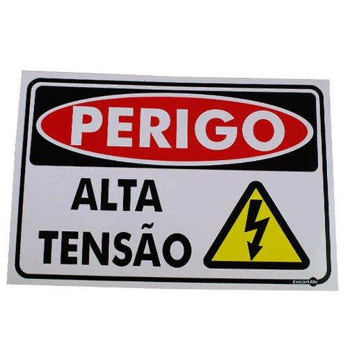 placa sinalização perigo alta tensão