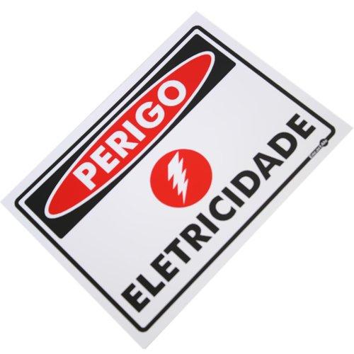 placa sinalizadora de perigo eletricidade