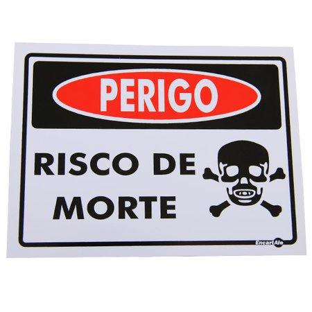 placa sinalizadora perigo risco de morte