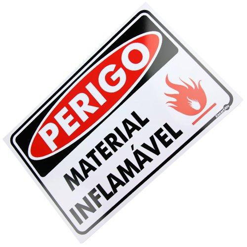 placa sinalizadora perigo material inflamável