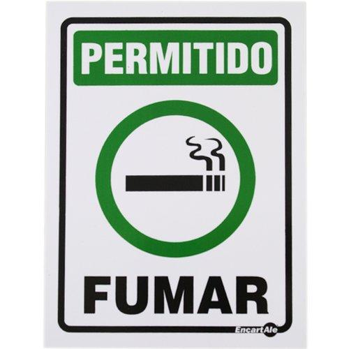 placa sinalizadora de permitido fumar